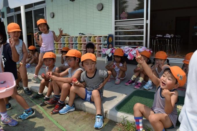 夏の幼稚園 7月のようす①